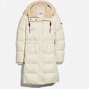 🆕🧥COACH Long Puffer Duck feather Jacket Coat❄️